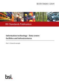 شگردهای مدیریت و نگهداری مراکزداده BSI EN 50600 : 2019